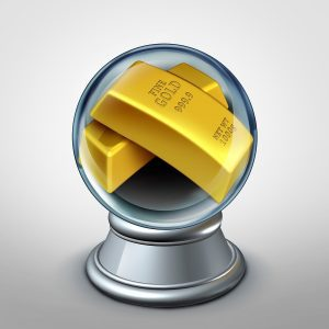 gold in crystal ball