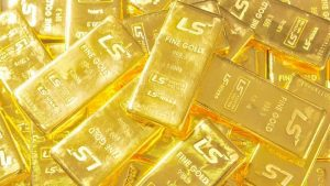 gold bars in a pile