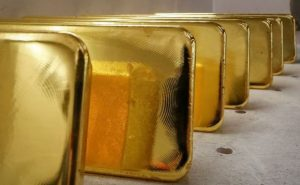gold bars lined up