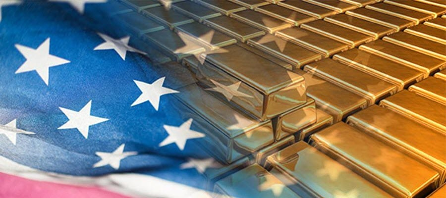 American Flag and Gold